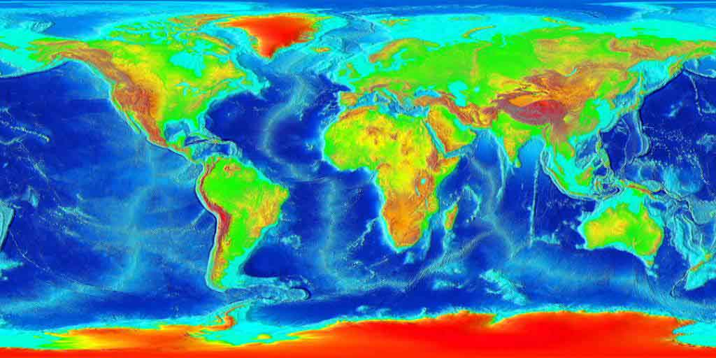 World Map Elevation